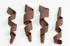 Espirales del chocolate Fotografía de archivo