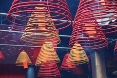 Espirales del incienso Imagenes de archivo