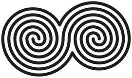 Espirales dobles célticos Imágenes de archivo libres de regalías