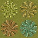 Espirales en rueda de color Stock de ilustración
