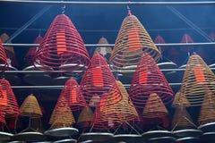 Espirales en templo budista Imágenes de archivo libres de regalías