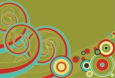 Espirales y círculos retros Foto de archivo