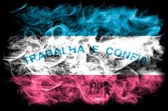 Espirito Santo-rookvlag, staten van zuidoostelijk Brazilië royalty-vrije stock fotografie