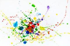 Espirra da aquarela Imagens de Stock