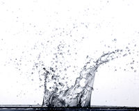 Espirrando a água Foto de Stock Royalty Free