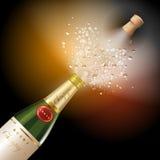 Espirrando o champanhe Imagens de Stock