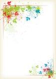 Espirrando o frame floral colorido Imagem de Stock Royalty Free