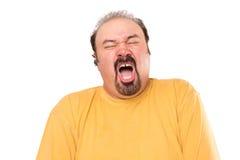 Espirrar grande do homem do relógio Fotografia de Stock Royalty Free
