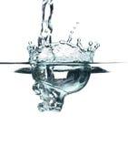 Espirro claro da água azul Fotos de Stock Royalty Free