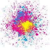Espirro colorido Imagens de Stock