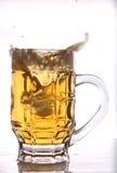 Espirro da cerveja Foto de Stock Royalty Free