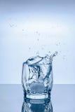 Espirro de vidro do gelo Imagens de Stock