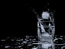 Espirro de vidro do gelo Imagem de Stock