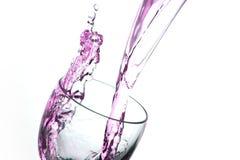 Espirro do sumário do vinho Fotos de Stock Royalty Free