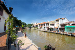 Esplanada na manhã, Malásia do beira-rio de Melaka Imagem de Stock