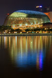 Esplanade � Theatres on the Bay at dusk Royalty Free Stock Photography