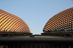 esplanade δίδυμο Σινγκαπούρης Στοκ Φωτογραφίες