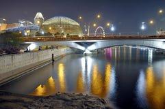Esplanade, θέατρα από τον κόλπο Στοκ Φωτογραφία