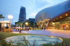 Esplanade θέατρο στον κόλπο στη Σιγκαπούρη Στοκ εικόνα με δικαίωμα ελεύθερης χρήσης