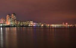 Esplanade νύχτας Στοκ Εικόνα