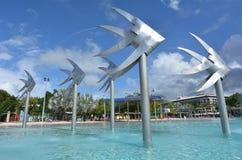 Esplanade τύμβων κολυμπώντας λιμνοθάλασσα στο Queensland Αυστραλία στοκ φωτογραφίες με δικαίωμα ελεύθερης χρήσης