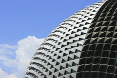Esplanade 2, Singapore. Side Detail of the Unique roofline of the Esplanade in Singapore royalty free stock photography