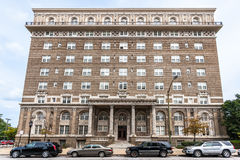 The Esplanade. Apartments, 2525 Eutaw Place in Reservoir Hill neighborhood of Baltimore, MD, USA, on National Register of Historic Places. One of two listed Royalty Free Stock Image