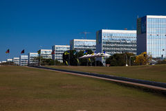 Esplanade Brasilia de ministères Images libres de droits