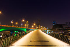 Esplanade bridge marina bay Singapore Stock Photos