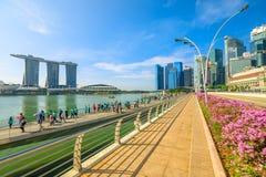 Esplanade Bridge Singapore Royalty Free Stock Photo