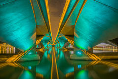 Esplanade Bridge, Singapore. Royalty Free Stock Images