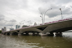 Esplanade Bridge in Singapore Stock Photos