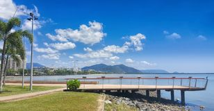 He esplanade in Cairns North Queensland. The esplanade in Cairns North Queensland Australia Stock Photo