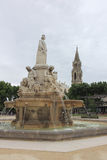Esplanade Charles-de-Gaulle, fountain, Nimes, France Stock Photography