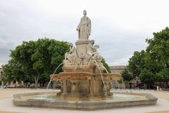 Esplanade Charles-de-Gaulle, French fountain, Nimes Stock Photography