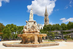 Esplanade Charles de Gaulle of Nimes. France Stock Photo