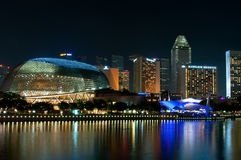 Esplanade and Cityscape Royalty Free Stock Photography