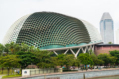 Esplanade concert hall in singapore Stock Photos
