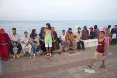 Esplanade de bord de la mer dans Nador Photo libre de droits