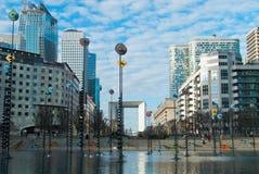 Esplanade de La Défense fotografía de archivo