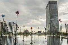 Esplanade de La Defense, París, Francia foto de archivo libre de regalías