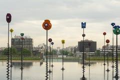 Esplanade DE La Defense, Parijs, Frankrijk royalty-vrije stock foto's
