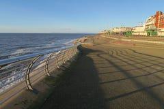 Esplanade de plage de Blackpool photos stock