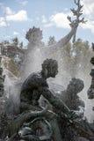 Esplanade des Quinconces, fontain van het Monument aux Girondins in Bordeaux stock fotografie