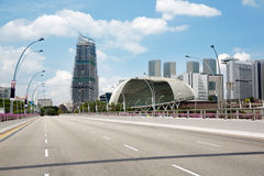 Esplanade Drive with views of Singapore. Without cars Stock Image