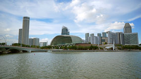Esplanade et Marina Bay, Singapour Photo stock