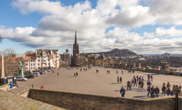 Esplanade in front of Edinburgh castle Royalty Free Stock Images