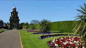 Esplanade Gardens - Scarborough - Yorkshire - England stock video