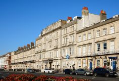 Esplanade guesthouses, Weymouth. Royalty Free Stock Photography