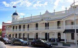 Esplanade Hotel: Fremantle, Western Australia. FREMANTLE,WESTERN AUSTRALIA, AUSTRALIA-APRIL 25, 2015: The historical white Esplanade Hotel in Fremantle with Stock Image